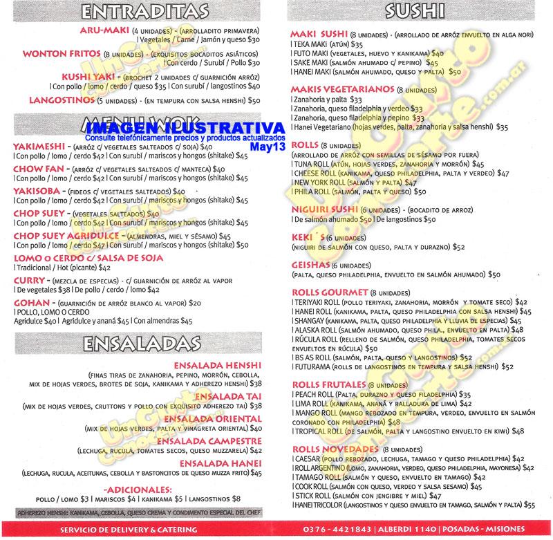 Hanei Sushi Wok 1gc Villa Sarita Z Norte Delivery