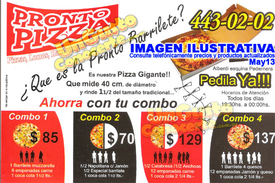 Pronto Pizza 1gc Villa Sarita Z Norte Delivery